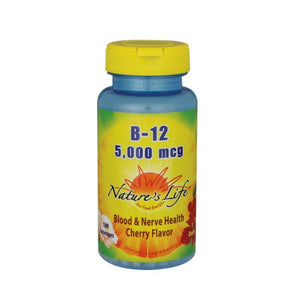 Vitamin B-12 Cherry 100 lozenges by Nature's Life (2587325366357)