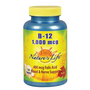 Vitamin B-12 250 tabs by Nature's Life (2587325530197)
