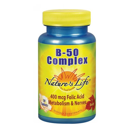 B-Complex 50 tabs by Nature's Life