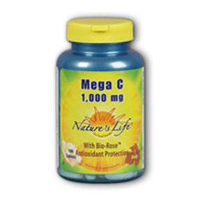 Mega Vitamin C 100 tabs by Nature's Life (2587326120021)