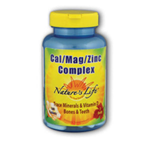 Cal-Mag-Zinc 100 tabs by Nature's Life (2587327594581)