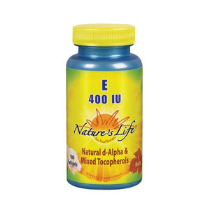 Vitamin E d-Alpha & Mixed Tocopherols 100 softgels by Nature's Life (2587328217173)