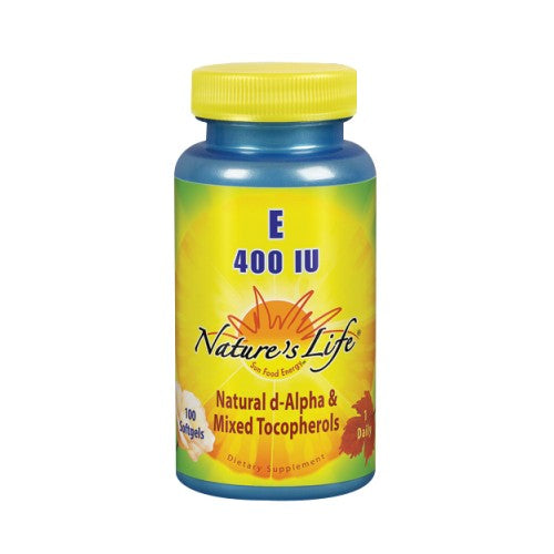 Vitamin E d-Alpha & Mixed Tocopherols 100 softgels by Nature's Life