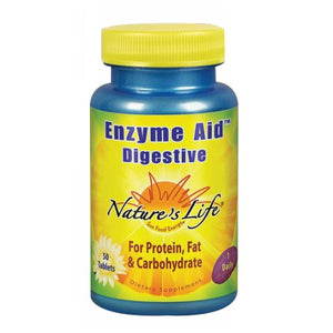 Enzyme Aid Digestive 50 tabs by Nature's Life
