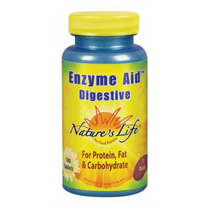 Enzyme Aid Digestive 100 tabs by Nature's Life (2587328643157)