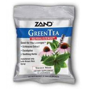 Herbal Lozenges Green Tea Echinacea 12 pack by Zand (2589150216277)