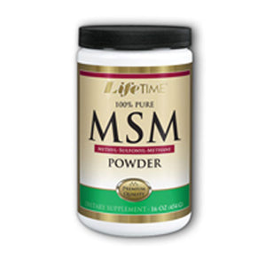 100% Pure MSM Unflavoured powder 16 oz by Life Time Nutritional Specialties (2589150609493)
