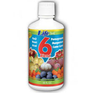 6 Blend Fruit Juice Mixed Fruit 32 oz by Life Time Nutritional Specialties (2587330445397)