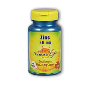 Zinc 100 tabs by Nature's Life (2587330609237)