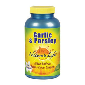 Garlic & Parsley 500 softgels by Nature's Life (2587331264597)