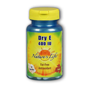 Dry Vitamin E 100 Capsules by Nature's Life