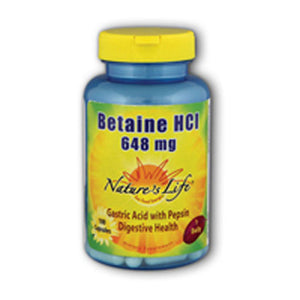 Betaine HCl 100 caps by Nature's Life (2587333460053)