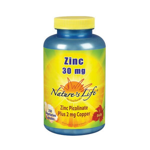 Zinc Picolinate 250 caps by Nature's Life (2587334639701)