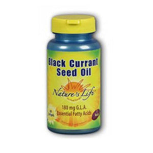 Black Currant Seed Oil 60 softgels by Nature's Life (2587340144725)