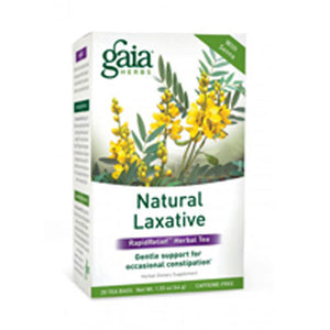 Natural Laxative Tea 16 bags(case of 6) by Gaia Herbs (2587359182933)
