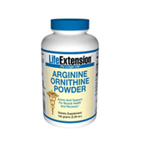 Arginine Ornithine Powder 150 gms by Life Extension (2587366817877)