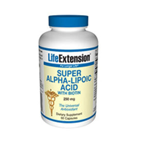 Super Alpha-Lipoic Acid with Biotin 60 caps by Life Extension (2587369799765)