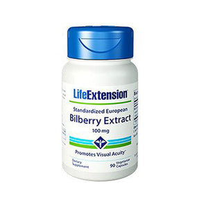 Bilberry Extract 90 Veg Caps by Life Extension (2587369898069)