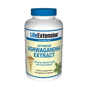 Optimized Ashwagandha Extract 60 vcaps by Life Extension (2587370815573)