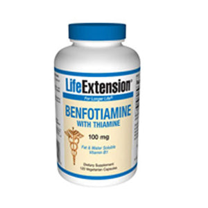 Benfotiamine with Thiamine 120 caps by Life Extension