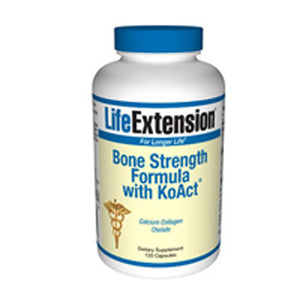 Bone Strength Formula with KoAct 120 Capsules by Life Extension