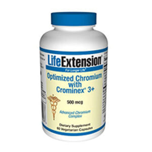 Optimized Chromium with Crominex 3+ 60 Veg Capsules by Life Extension