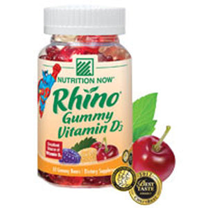 Rhino Gummy Vitamin D 75 chews by Nutrition Now (2587378417749)