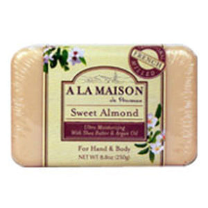 Bar Soap Sweet Almond 8.8 oz by A La Maison (2587381629013)