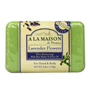 Bar Soap Lavender Flowers 8.8 oz by A La Maison (2587381825621)