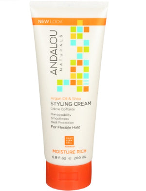 Moisture Rich Styling Cream Argan Oil and Shea, 6.8 oz by Andalou Naturals (2587384348757)