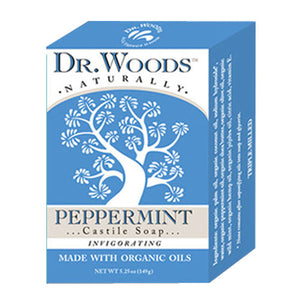 Castile Bar Soap PEPPERMINT 5.25 OZ by Dr.Woods Products