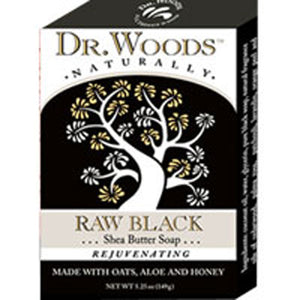 Castile Bar Soap BLACK EXFOL 5.25 OZ by Dr.Woods Products (2587387461717)