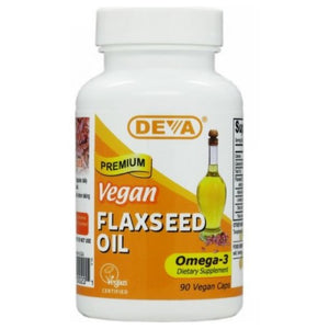 Flaxseed Oil 90 Vcap by Deva Vegan Vitamins (2584216600661)