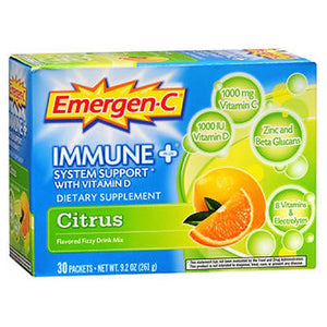 Emergen-C Immune Plus System Support With Vitamin D Citrus 30 pkts by Alacer (2587388936277)