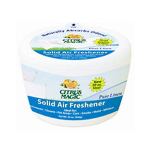 Solid Air Freshener Pure Linen 20 oz by Citrus Magic (2587942617173)