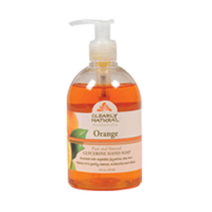 Liquid Hand Soap Pump Orange 12 oz by Clearly Natural (2587942944853)