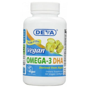 Omega-3 DHA 90 Softgels by Deva Vegan Vitamins
