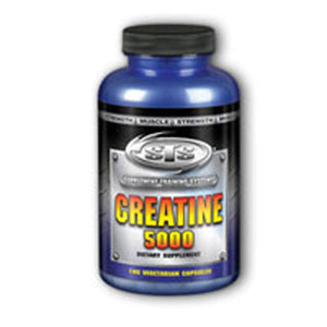 Creatine 5000 180 Count Veg Capsules by Natural Sport
