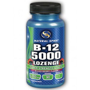 Methylcobalamin B-12 5000 Mix Berry 90 ct loz by Natural Sport (2587396210773)
