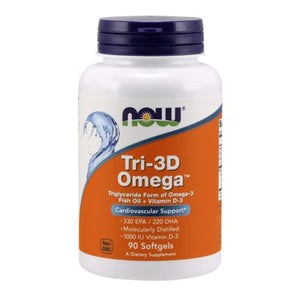 Tri 3D Omega 90 sgels by Now Foods (2587401486421)