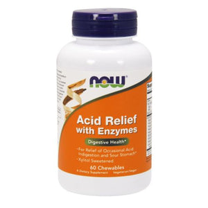 Acid Relief with Enzymes 60 chewables by Now Foods (2587401879637)
