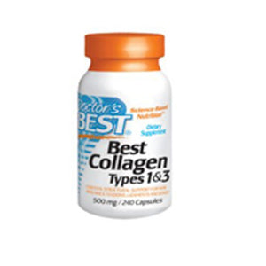 Collagen Types 1and 3 with Peptan 240 caps by Doctors Best (2587948712021)