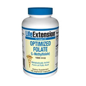Optimized Folate (L Methylfolate) 100 Tabs by Life Extension