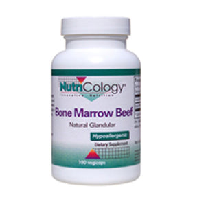 Bone Marrow Beef Natural Glandular 100 Capsules by Nutricology/ Allergy Research Group