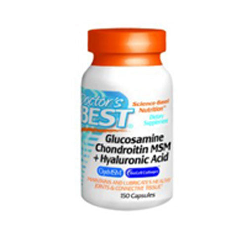 Glucosamine Chondroitin MSM + Hyaluronic Acid 150 Caps by Doctors Best