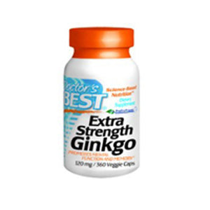 Extra Strength Ginkgo 360 Veggi Caps by Doctors Best (2587405680725)