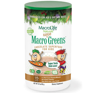 Jr Coco Greens 14 Day Canister 3.3 OZ by Macrolife Naturals