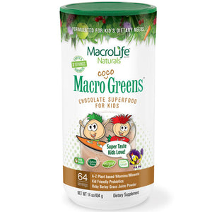 Jr Coco Greens 64 Day Canister 14 OZ by Macrolife Naturals
