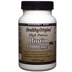 Biotin 150 Veg Caps by Healthy Origins