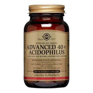 Advanced 40+ Acidophilus Vegetable Capsules 60 V Caps by Solgar